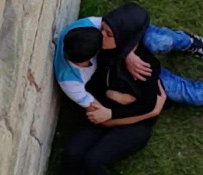 مصمصة و بوس جامد بنت مصرية محجبة مثيرة في الحديقة | جديد سكس مصري
